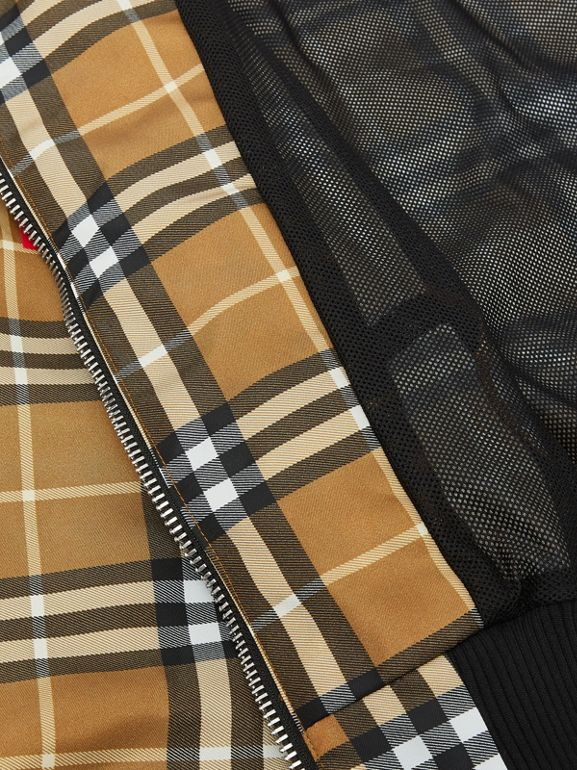 Horseferry Print Check Lightweight Hooded Jacket in Warm Walnut | Burberry - cell image 1