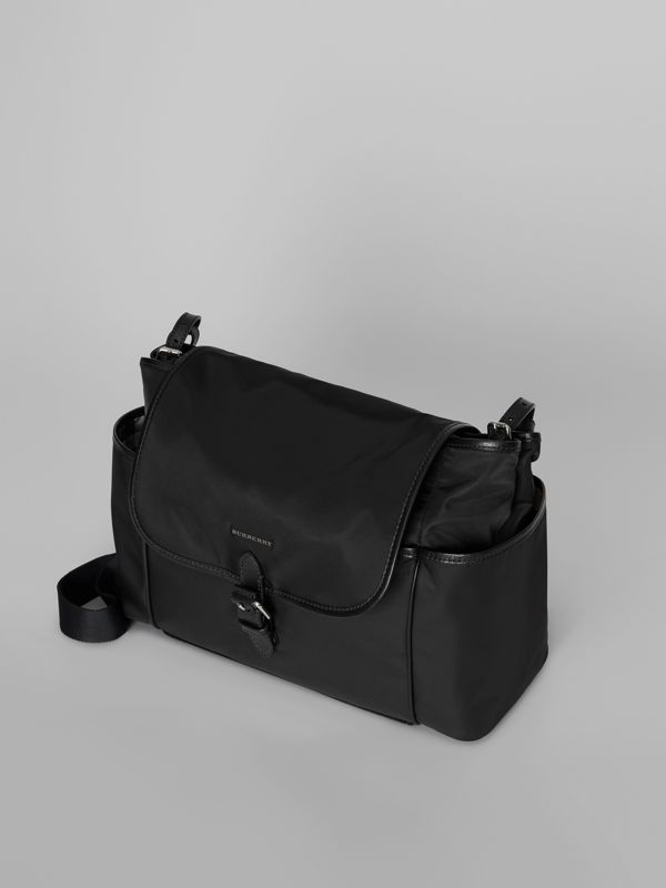 Leather Trim Baby Changing Shoulder Bag in Black - Children | Burberry United Kingdom - cell image 2