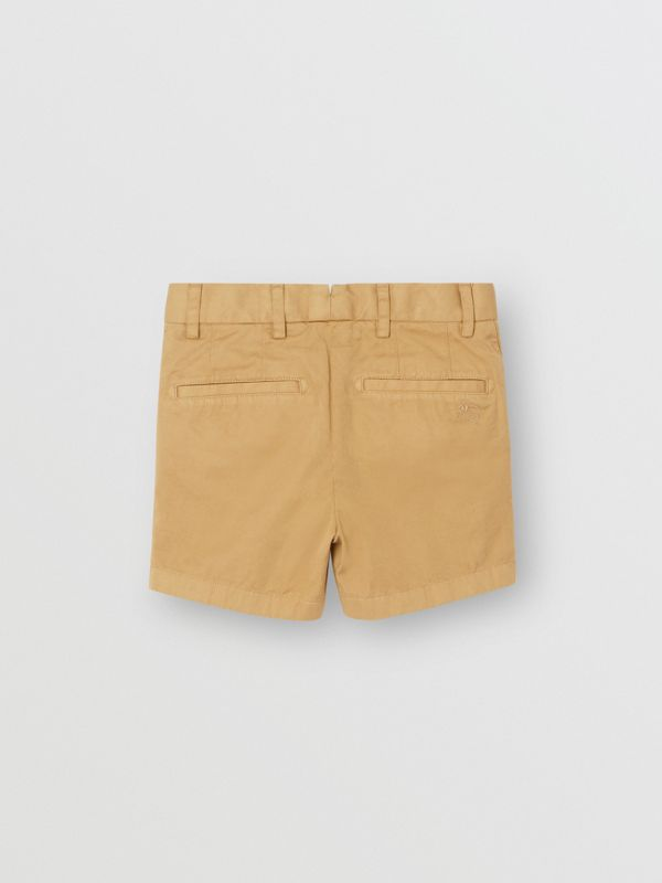 Cotton Chino Shorts in Taupe - Children | Burberry - cell image 3