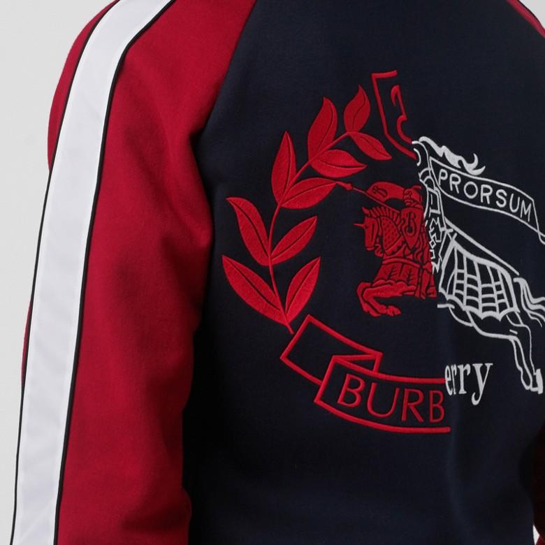 Burberry - Kapuzenjacke aus Neopren mit kontrastierendem Ritteremblem - 5