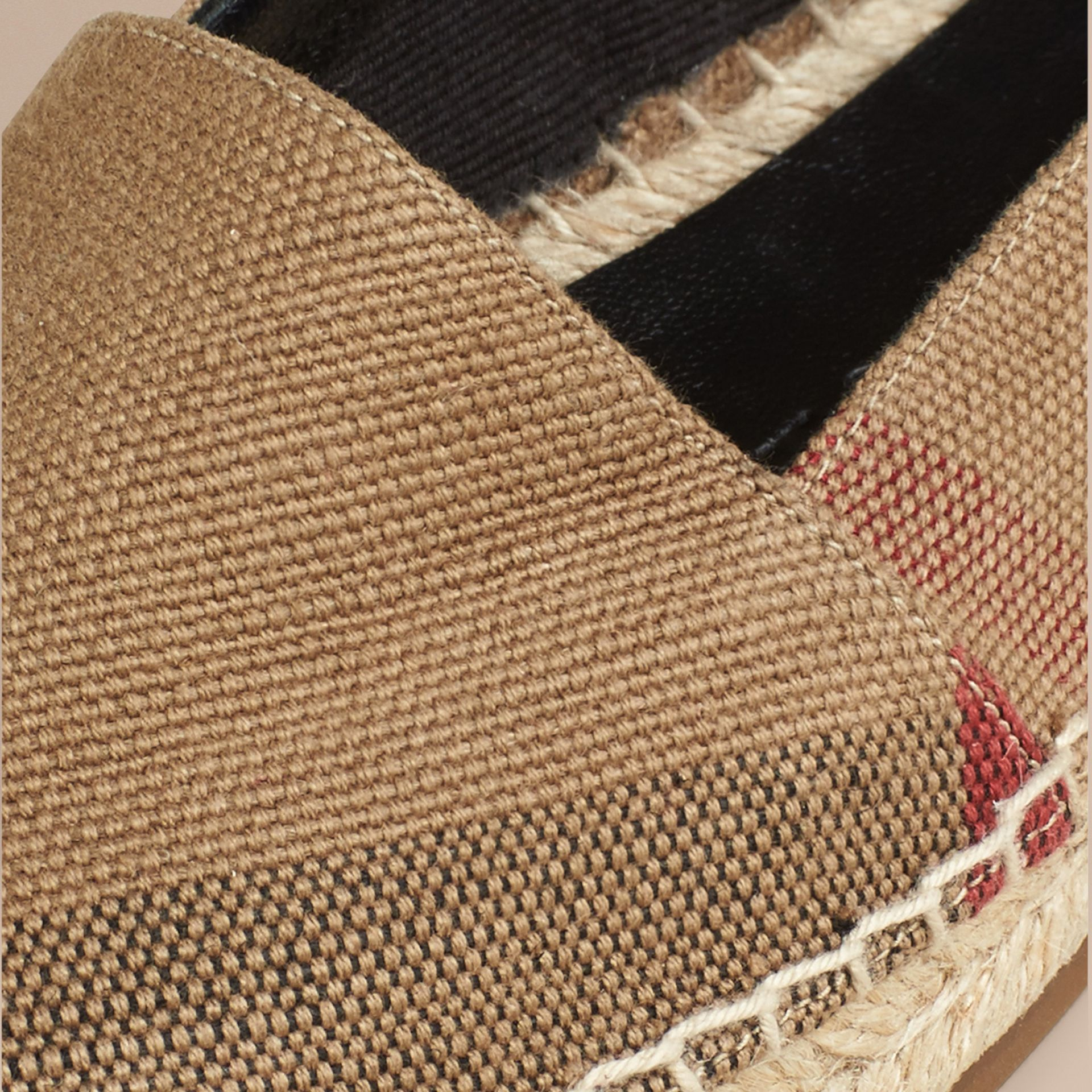 Check Jute Cotton Espadrilles - gallery image 2