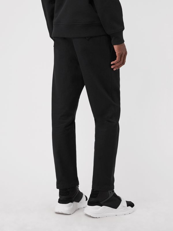 Slim Fit Cotton Blend Chinos in Black - Men | Burberry Hong Kong - cell image 2