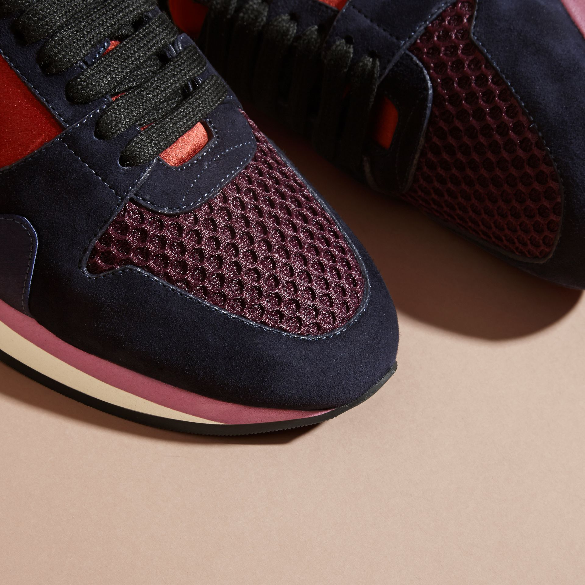 Russet red The Field Sneaker in Suede and Mesh - gallery image 2