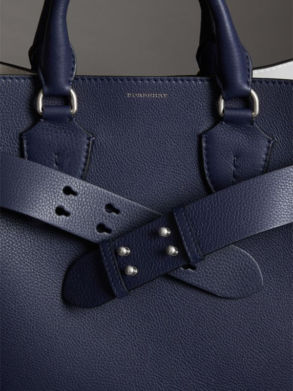 The Medium Belt Bag Grainy Leather Belt in Regency Blue - Women | Burberry - cell image 2