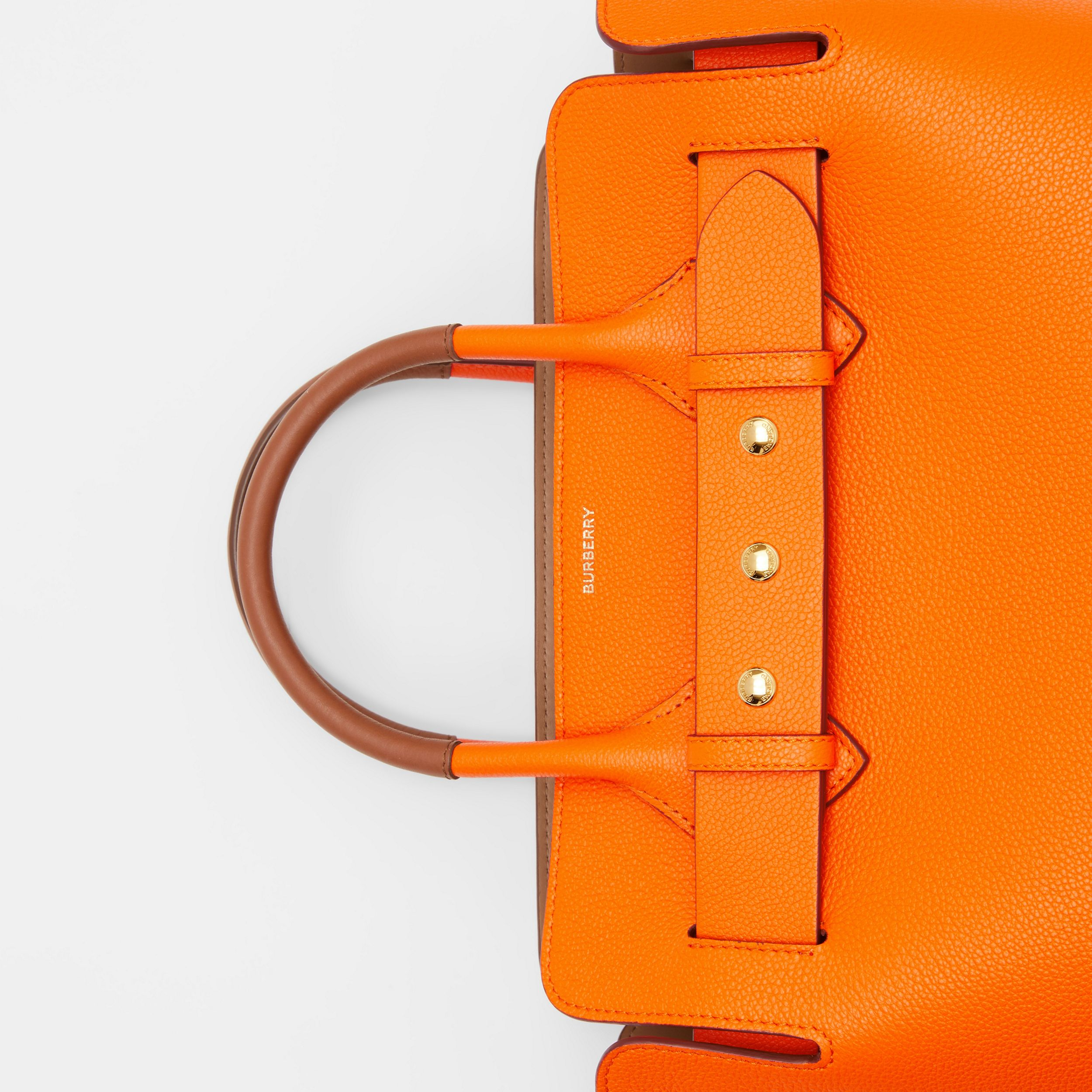 The Small Leather Triple Stud Belt Bag in Bright Orange - Women | Burberry - 2