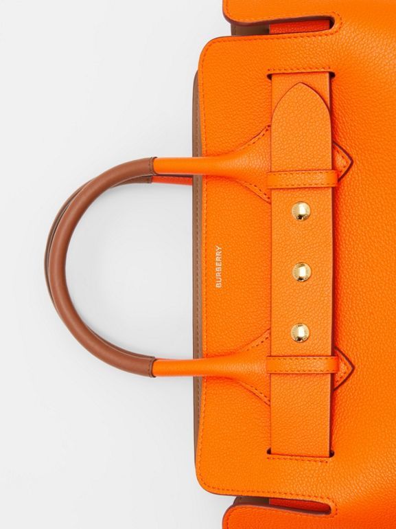 The Small Leather Triple Stud Belt Bag in Bright Orange - Women | Burberry - cell image 1