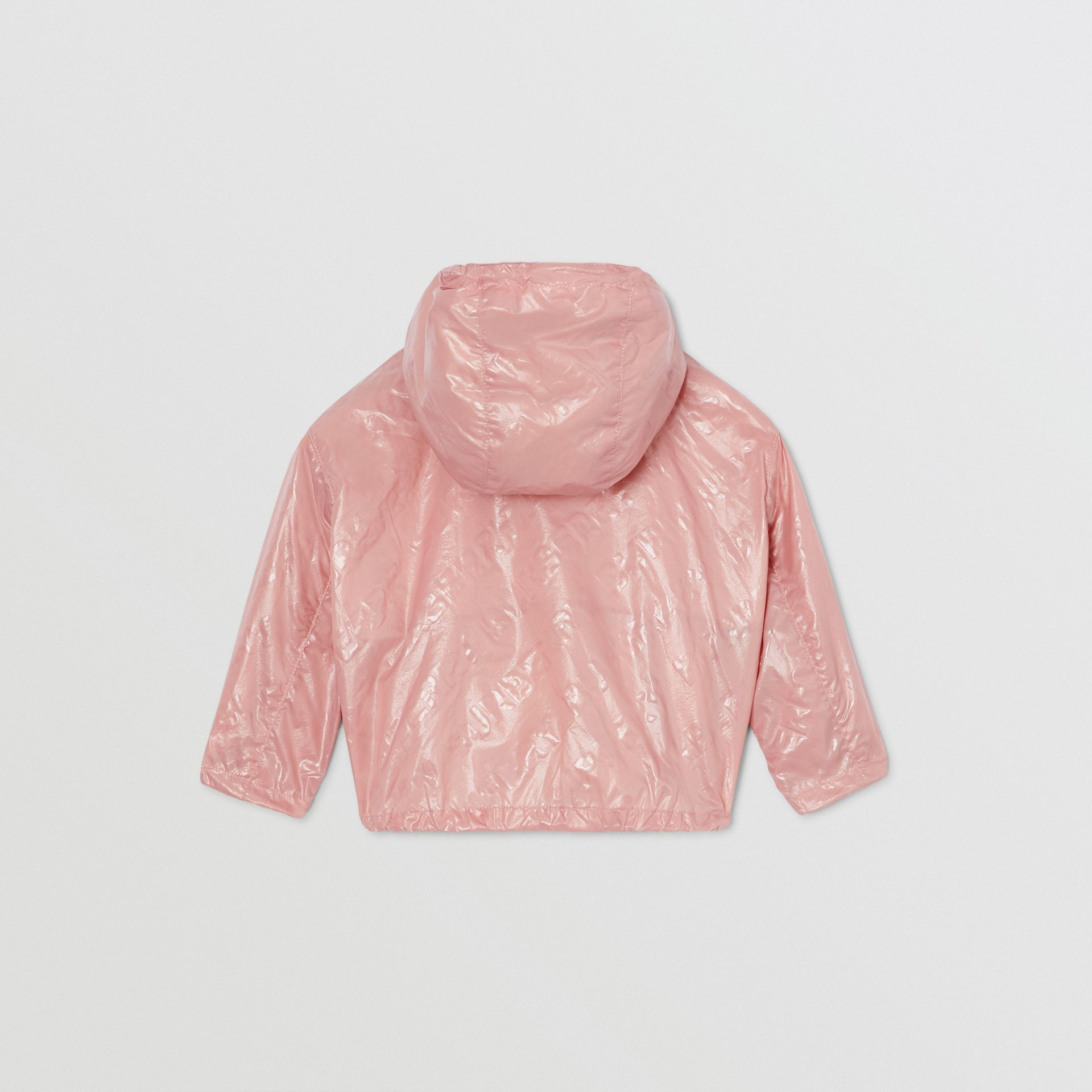 Logo Print Lightweight Hooded Jacket in Dusty Pink - Children | Burberry United States - gallery image 3