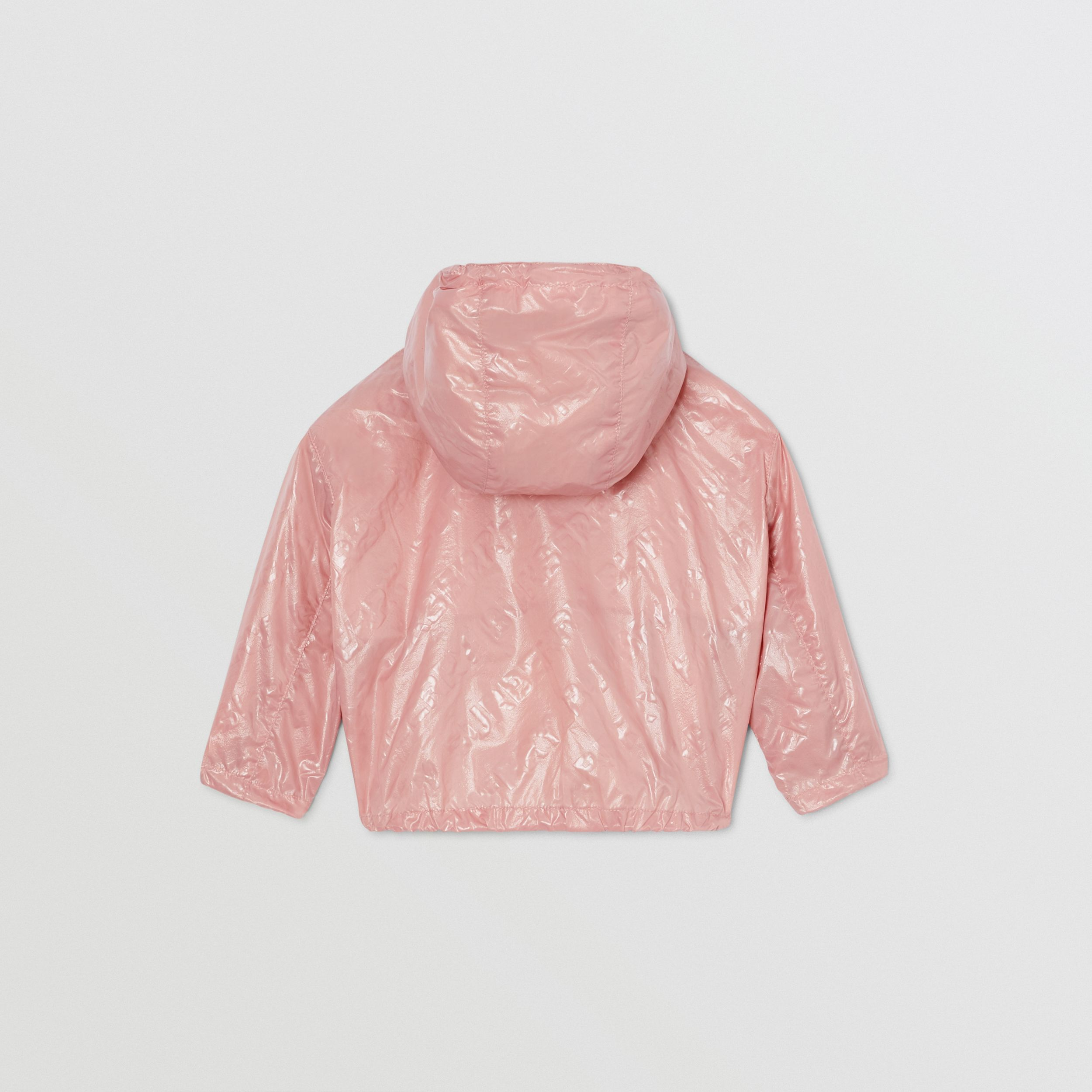 Logo Print Lightweight Hooded Jacket in Dusty Pink - Children | Burberry - 4