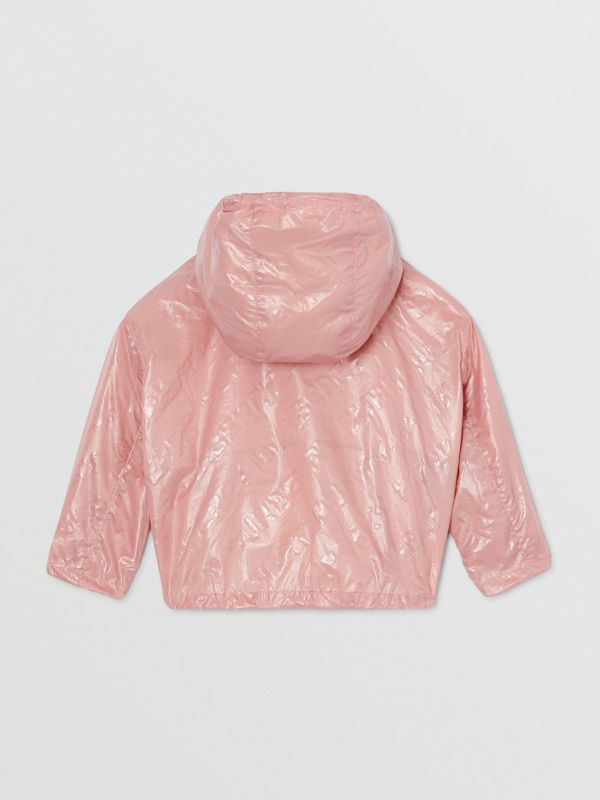 Logo Print Lightweight Hooded Jacket in Dusty Pink - Children | Burberry United States - cell image 3