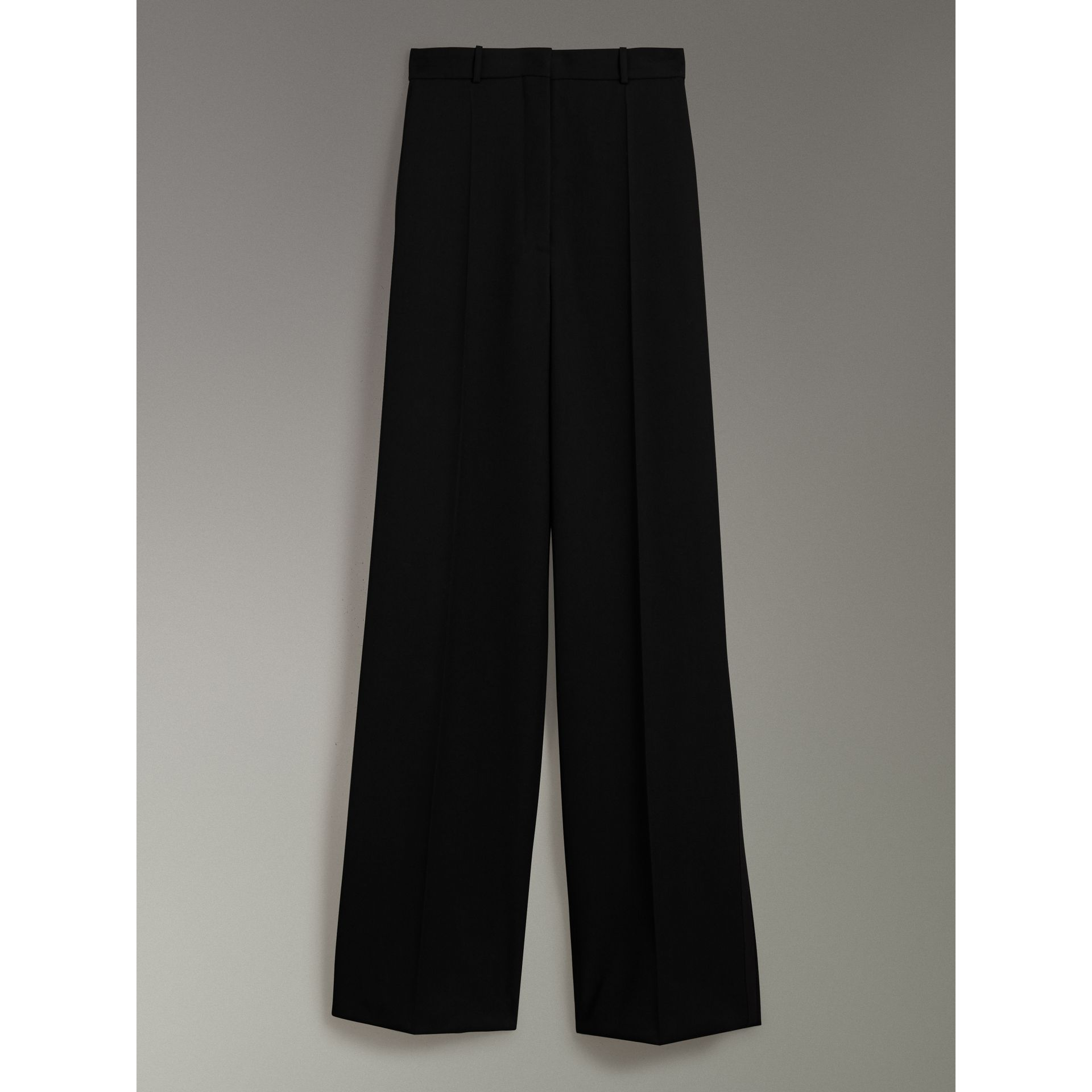 Wool High-waisted Trousers in Black - Women | Burberry United Kingdom - gallery image 3