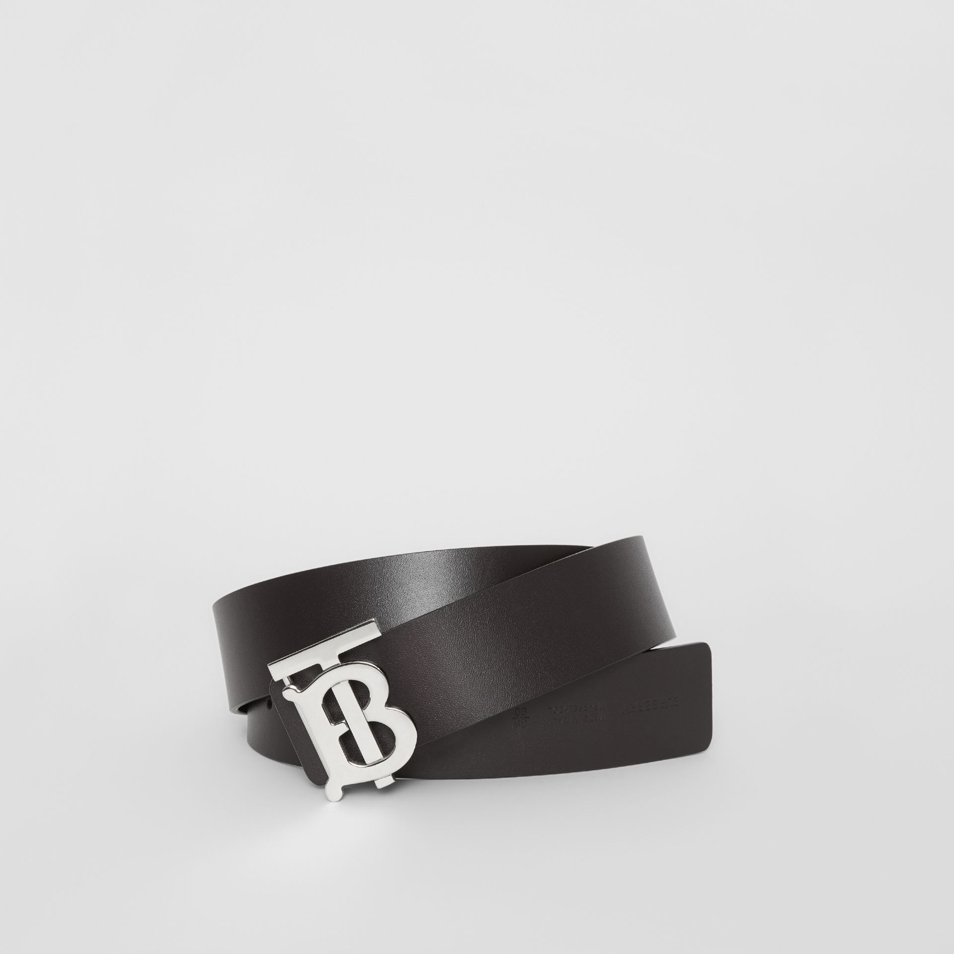Reversible Monogram Motif Leather Belt in Black/malt Brown - Men | Burberry United States - gallery image 0