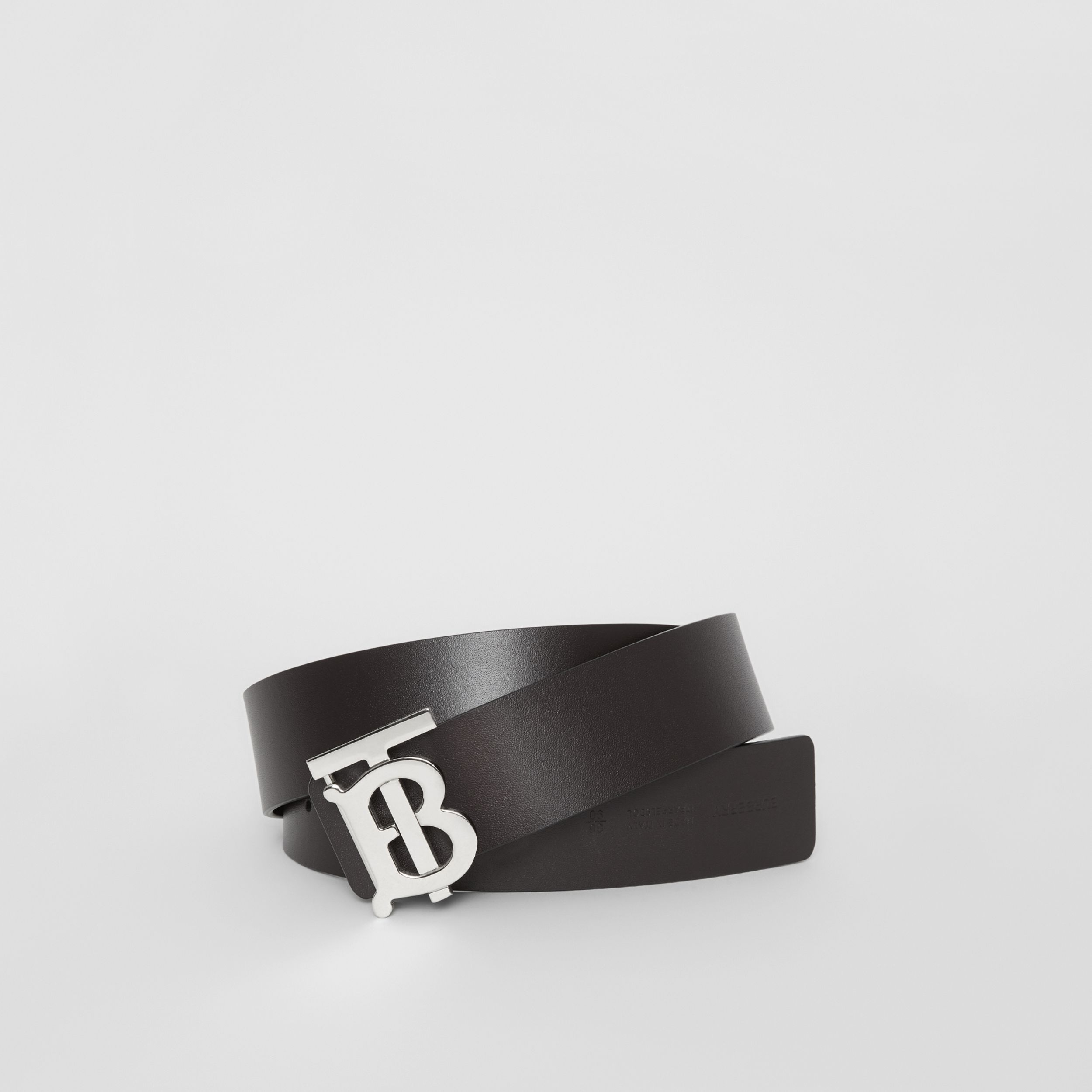 Reversible Monogram Motif Leather Belt in Black/malt Brown | Burberry - 1