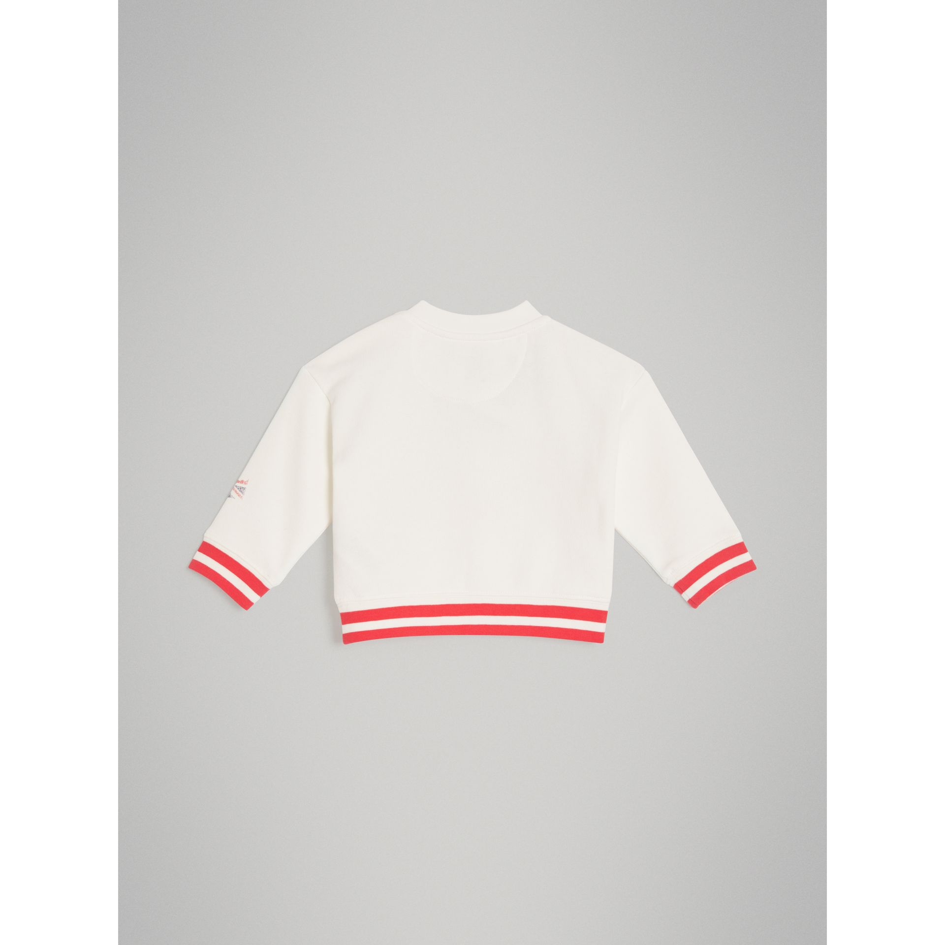 London Polaroid Print Cotton Sweatshirt in Ivory | Burberry - gallery image 3