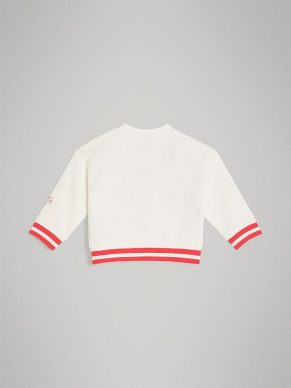 London Polaroid Print Cotton Sweatshirt in Ivory | Burberry - cell image 3