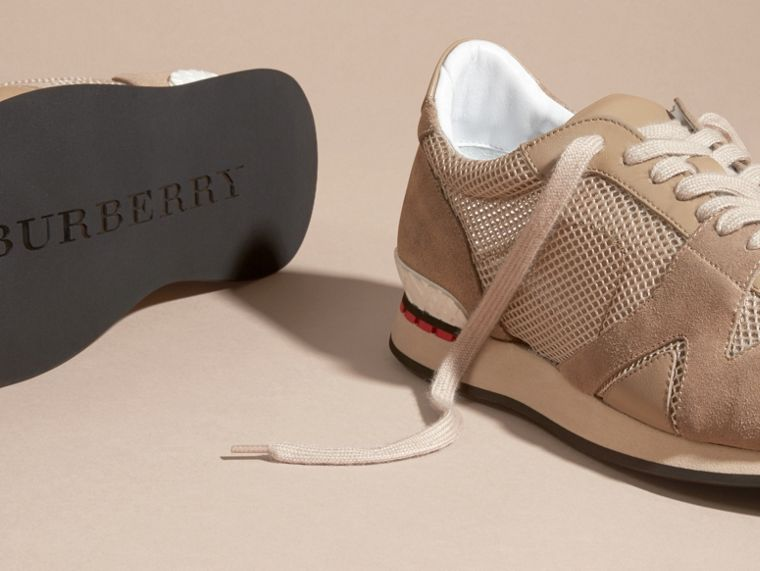 Camel The Field Sneaker in Suede and Mesh Camel - cell image 4
