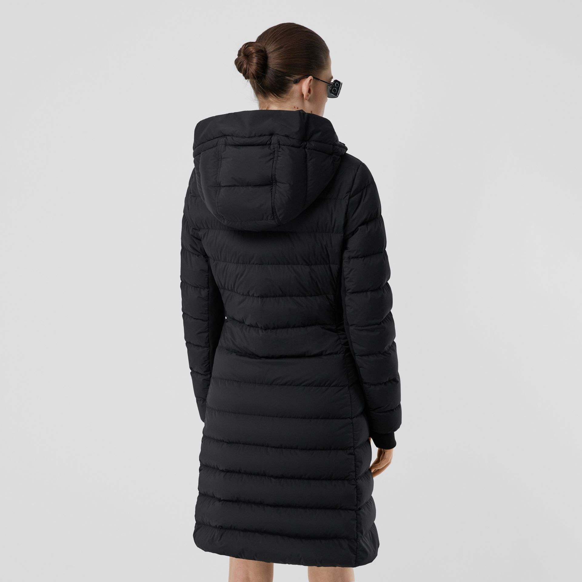 Hooded Puffer Coat in Black - Women   Burberry United States - gallery image 2