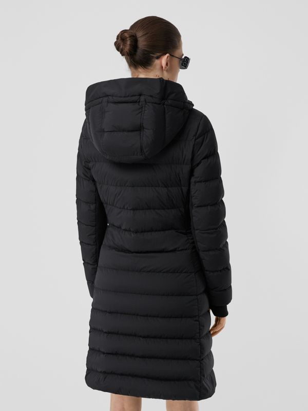 Hooded Puffer Coat in Black - Women   Burberry United States - cell image 2