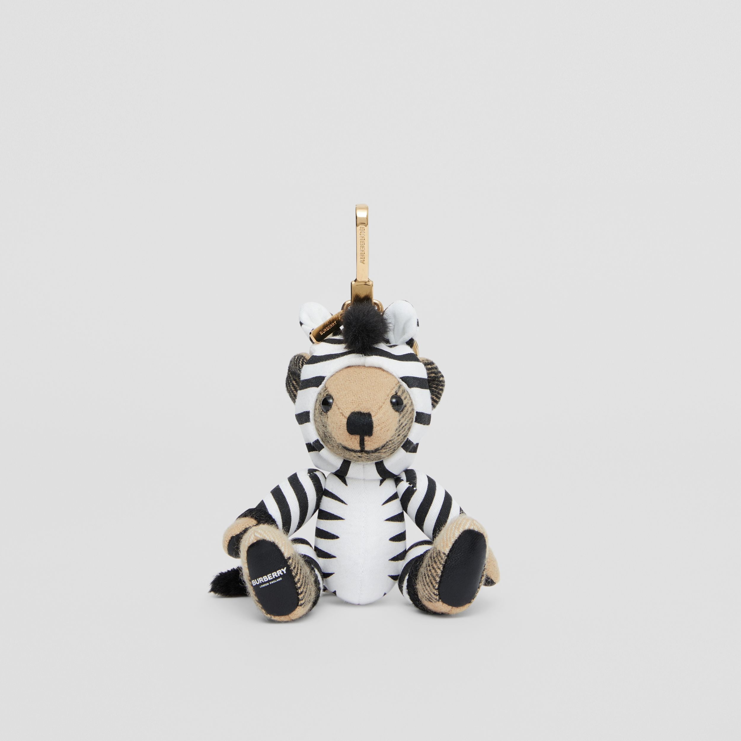 Thomas Bear Charm in Zebra Costume in Archive Beige - Women | Burberry Canada - 3
