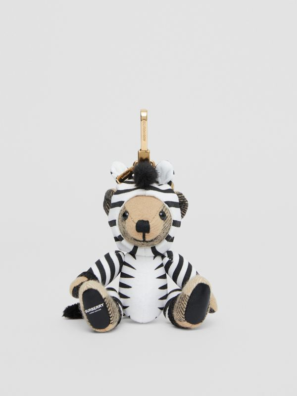 Thomas Bear Charm in Zebra Costume in Archive Beige - Women | Burberry - cell image 2