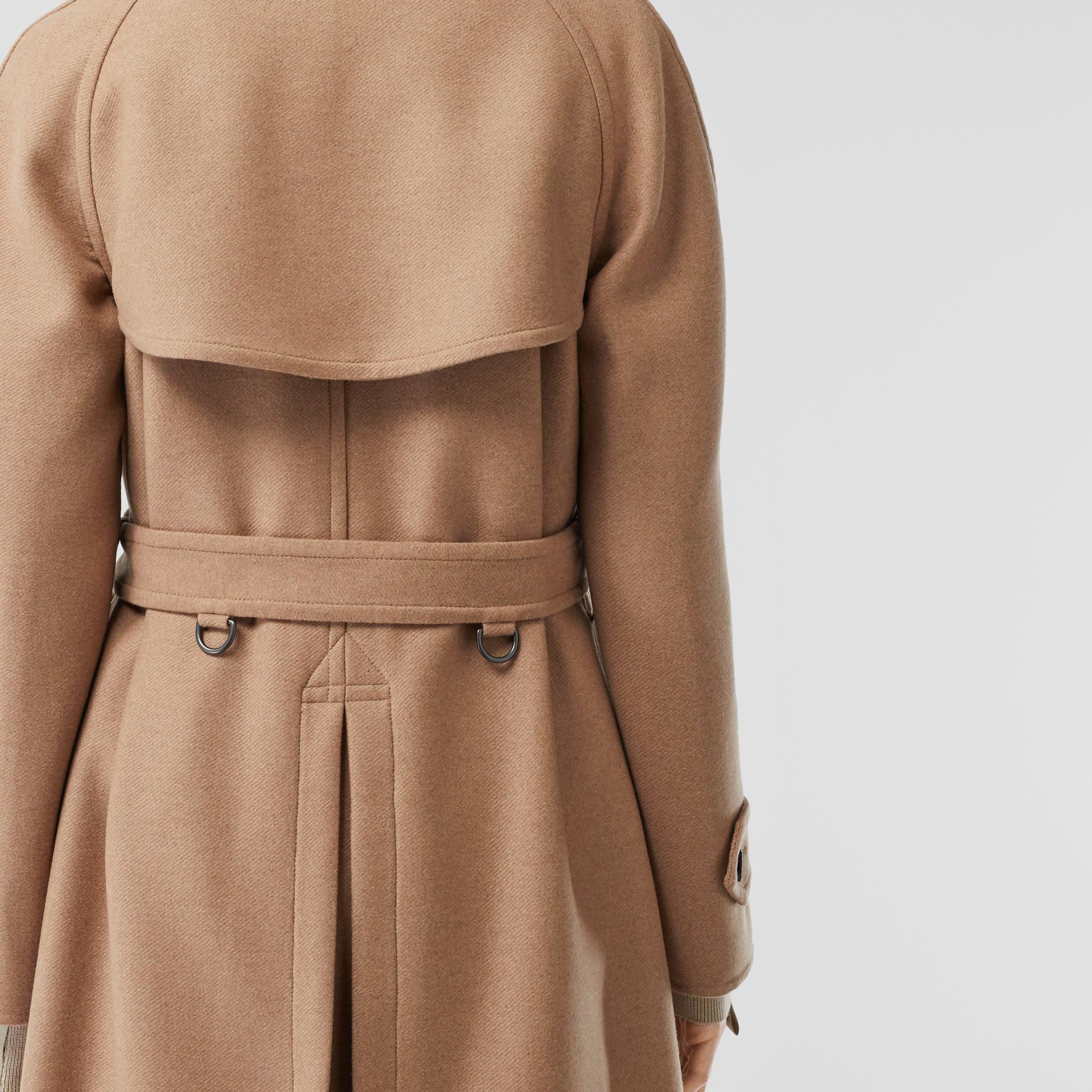 Double-faced Cashmere Trench Coat in Camel - Women | Burberry - gallery image 7