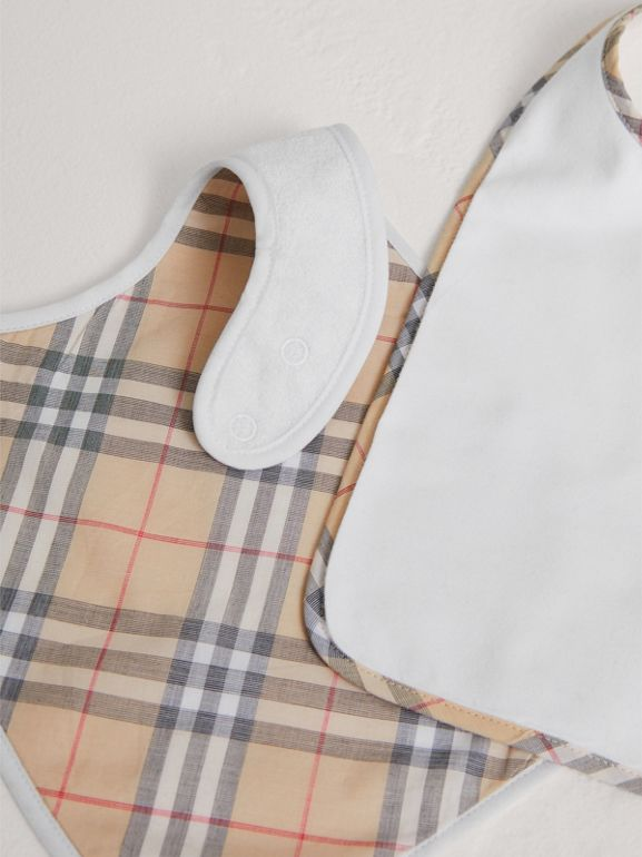 Cotton Two-piece Baby Gift Set in White | Burberry United Kingdom - cell image 1