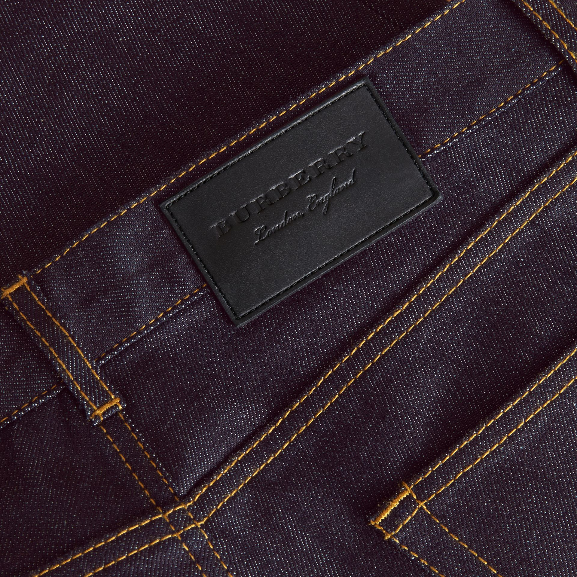 Slim Fit Raw Indigo Denim Jeans - Men | Burberry United States - gallery image 1