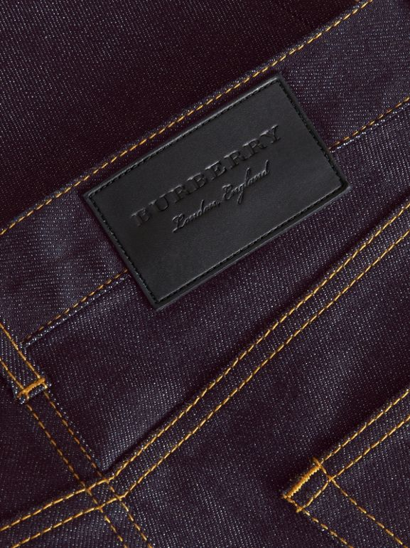 Slim Fit Raw Indigo Denim Jeans - Men | Burberry United Kingdom - cell image 1