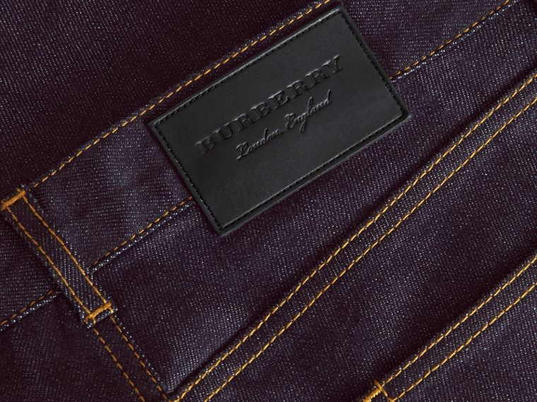Slim Fit Raw Indigo Denim Jeans - Men | Burberry - cell image 1