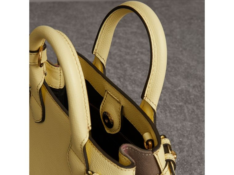 The Baby Banner in Leather and House Check in Camomile Yellow - Women | Burberry Singapore - cell image 4