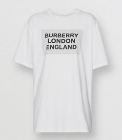 4f73b55d647 Logo Print Stretch Cotton T-shirt in Optic White