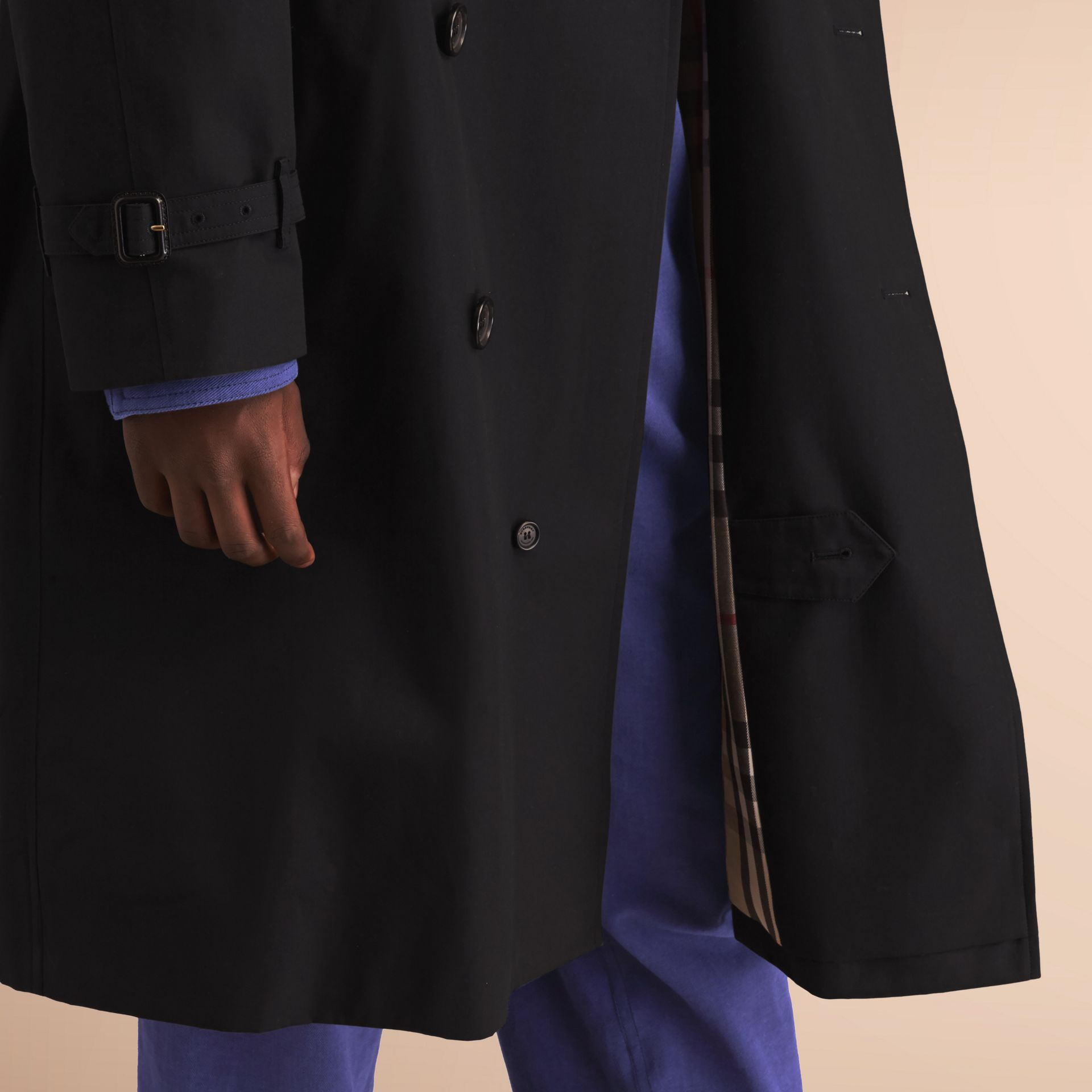 The Westminster – Long Heritage Trench Coat in Black - Men | Burberry - gallery image 5