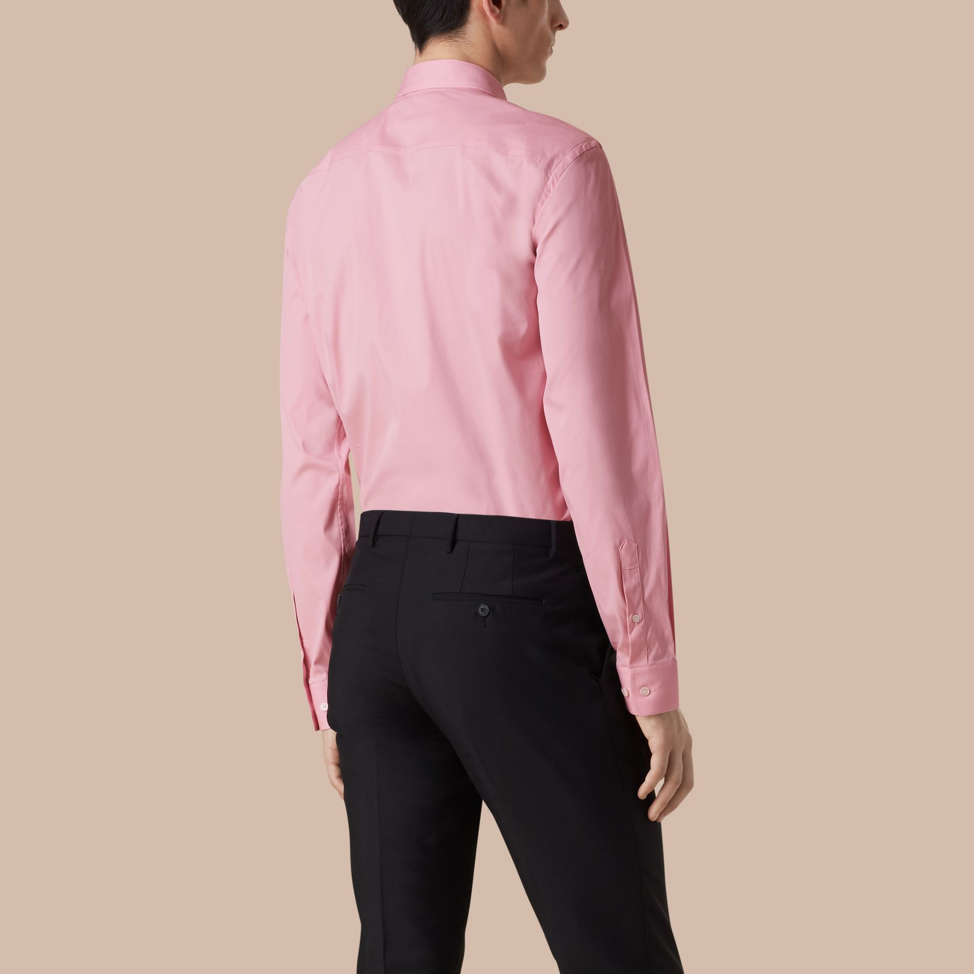 City pink Modern Fit Stretch Cotton Shirt City Pink - gallery image 3