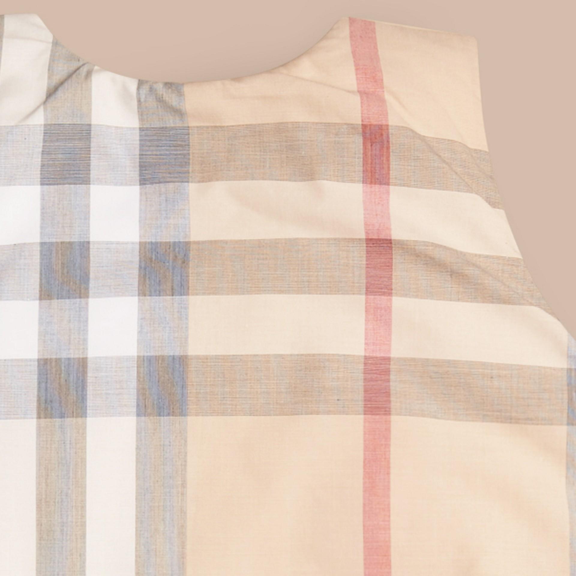 Pietra pallido Sacco nanna da neonato in cotone con motivo check - immagine della galleria 2
