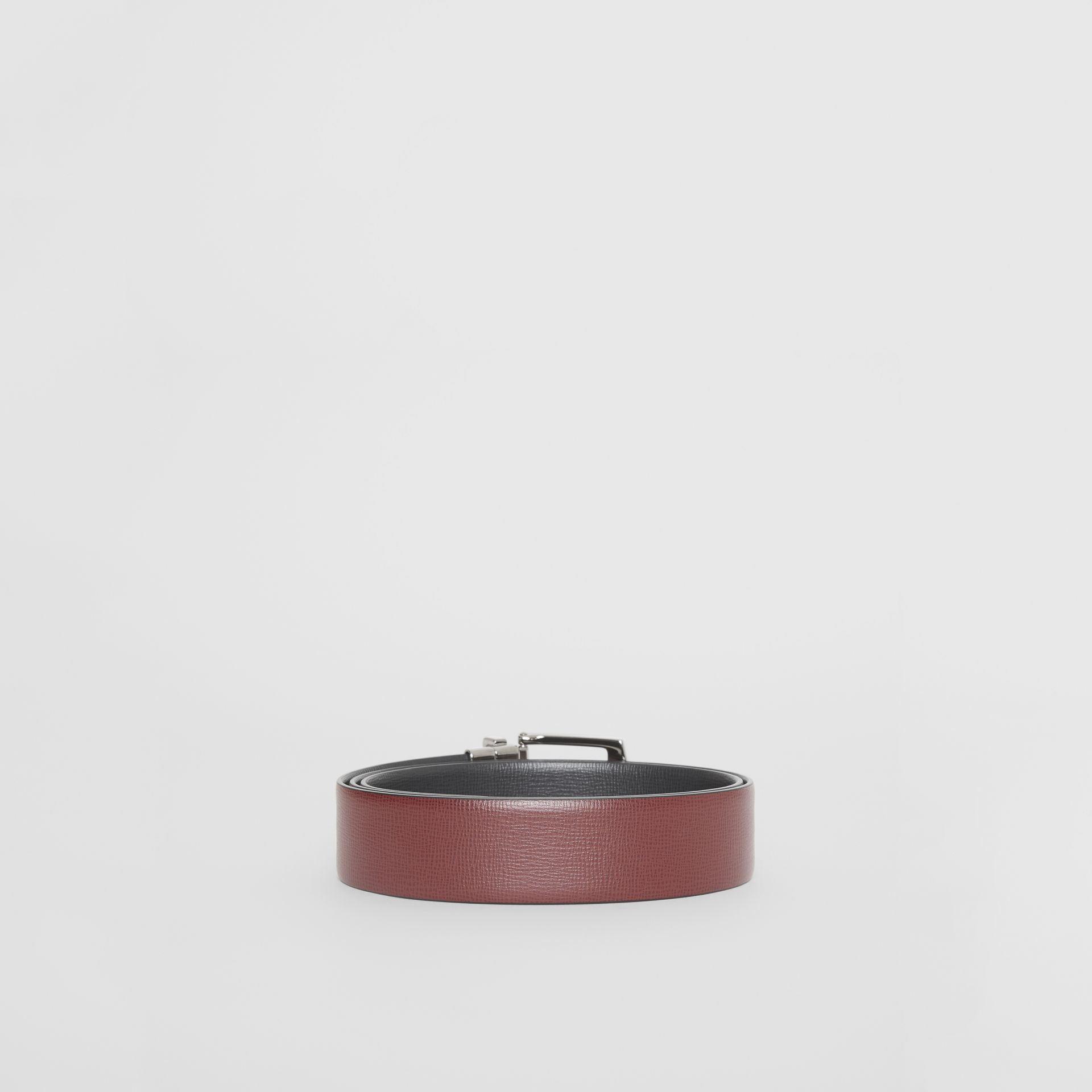 Reversible London Leather Belt in Burgundy Red/black - Men | Burberry Canada - gallery image 5
