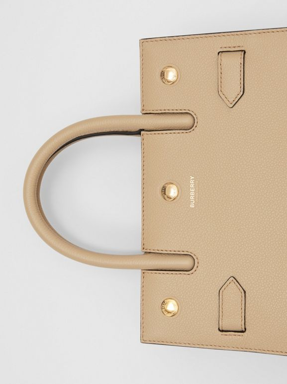Mini Leather Two-handle Title Bag in Light Beige - Women | Burberry - cell image 1