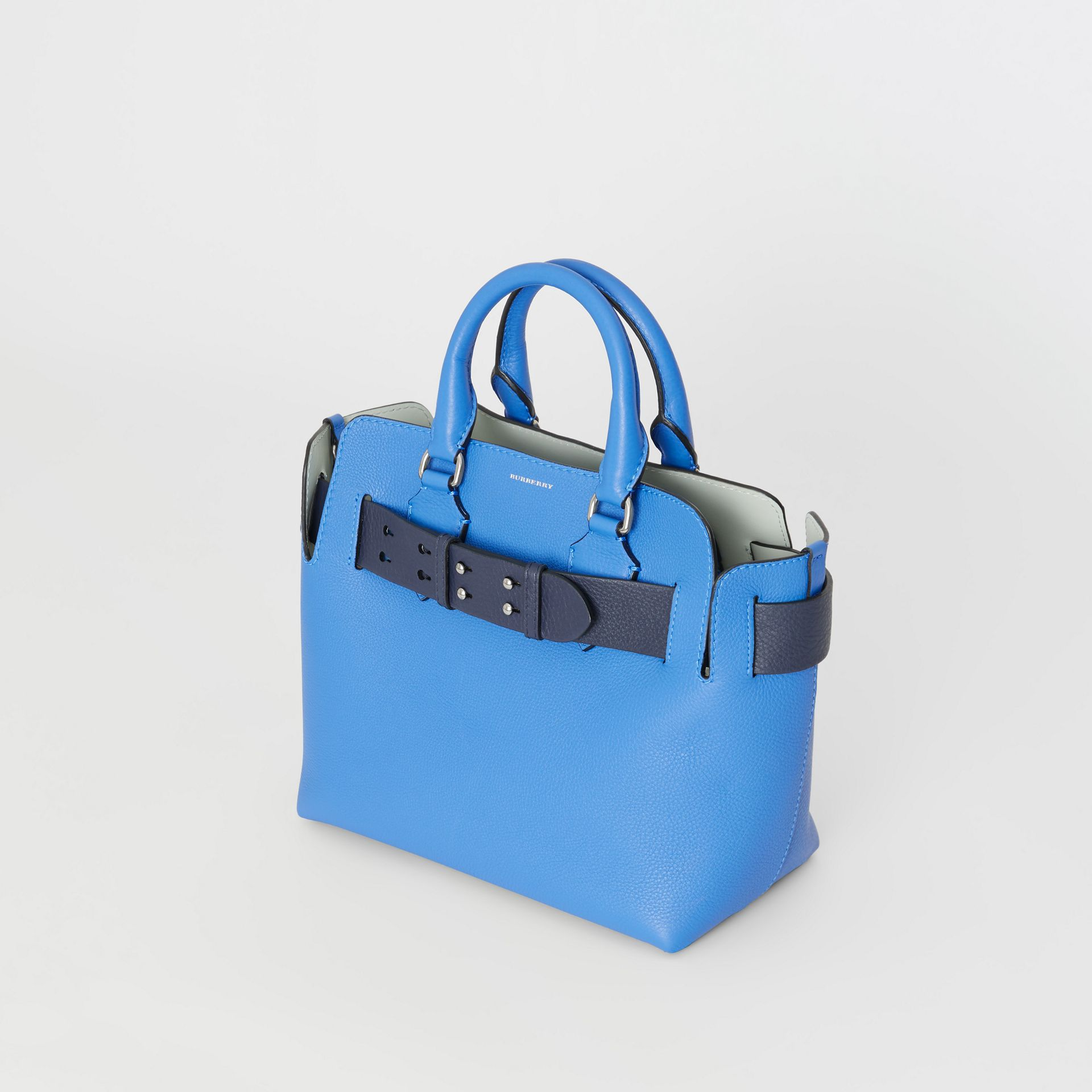 Borsa The Belt piccola in pelle (Blu Ortensia) - Donna | Burberry - immagine della galleria 3