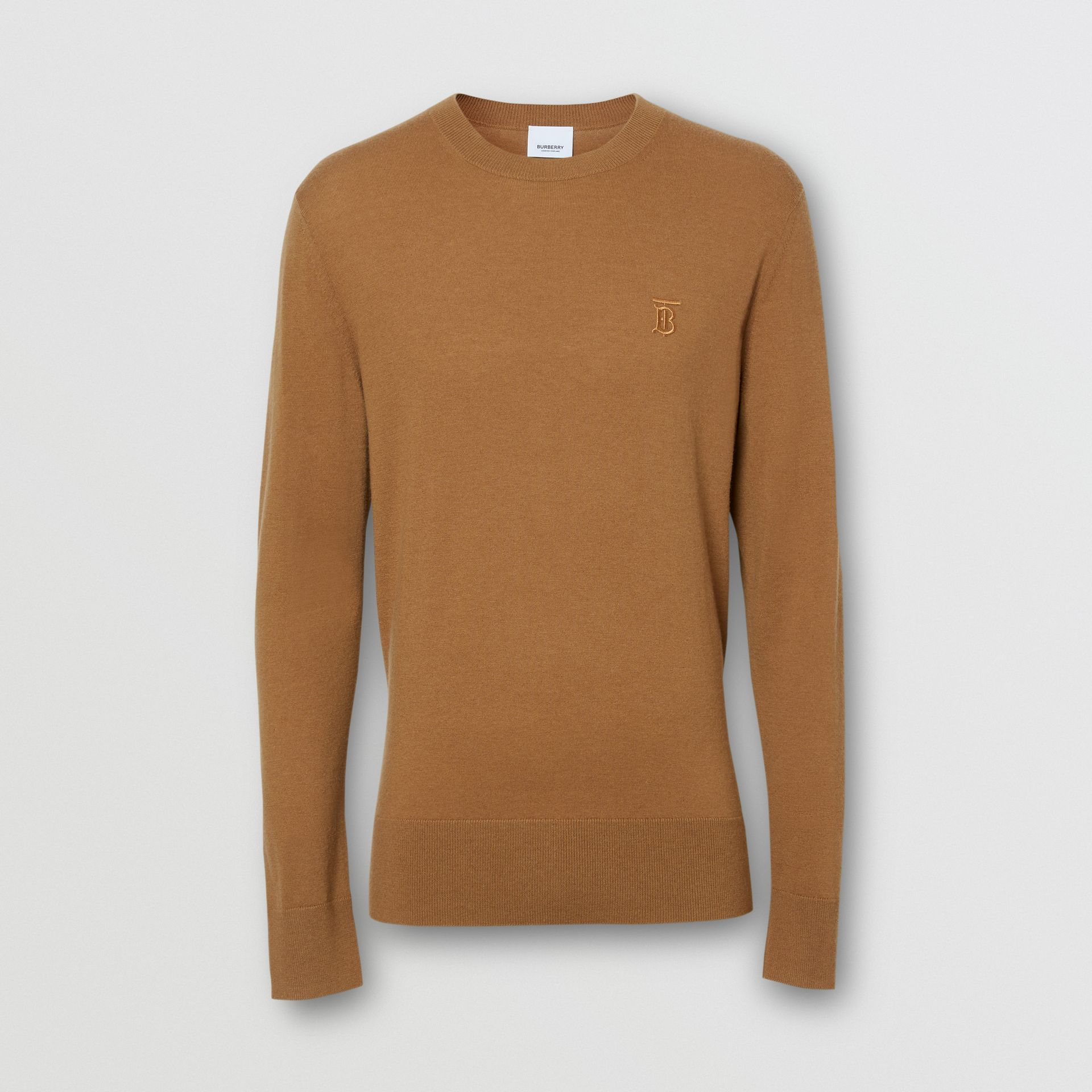 Monogram Motif Cashmere Sweater in Maple - Men | Burberry - gallery image 3