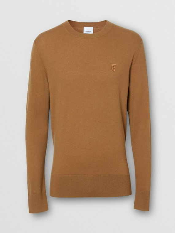 Monogram Motif Cashmere Sweater in Maple