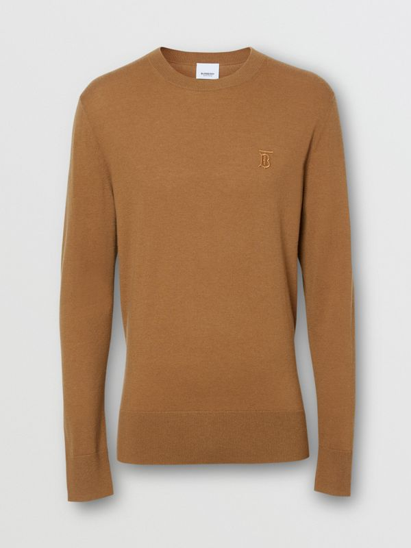 Monogram Motif Cashmere Sweater in Maple - Men | Burberry United Kingdom - cell image 3