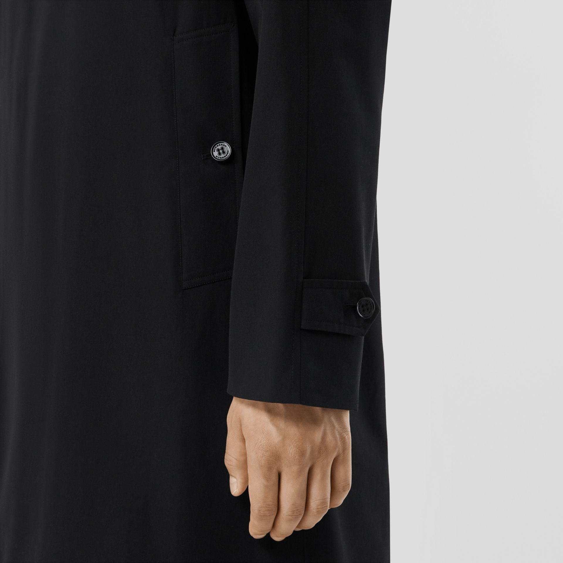 The Camden Car Coat in Black - Men | Burberry - gallery image 3