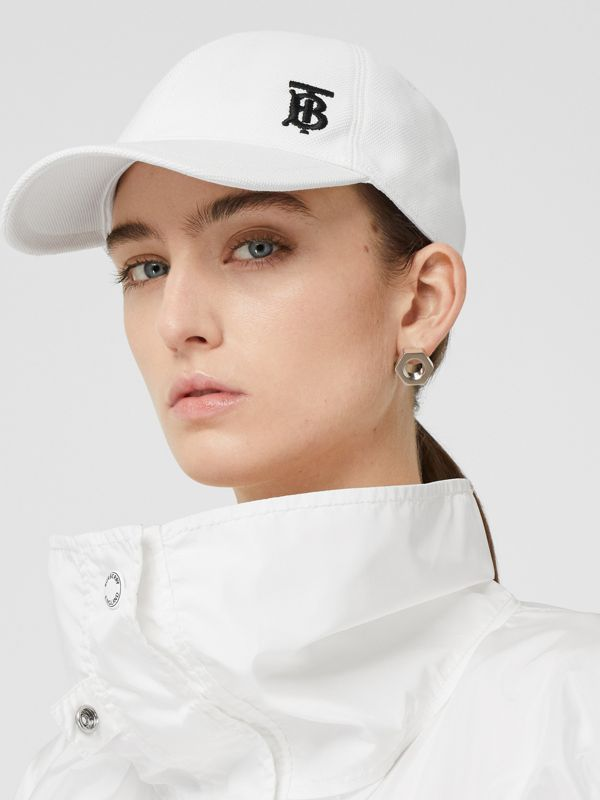 Monogram Motif Baseball Cap in White | Burberry - cell image 2
