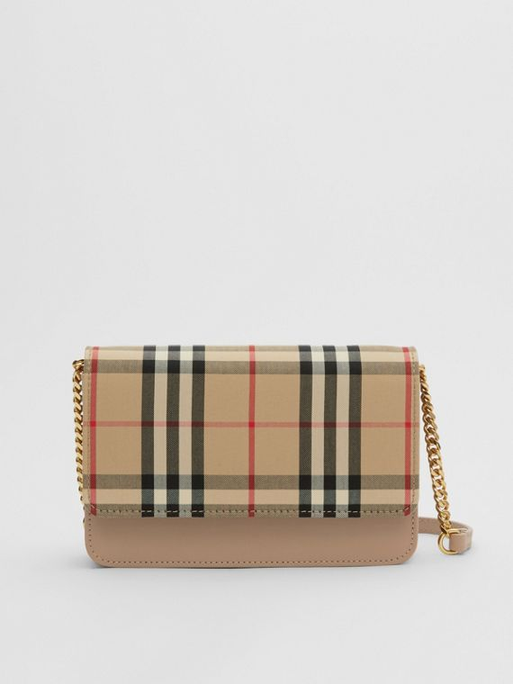 Vintage Check Canvas and Leather Bag in Honey