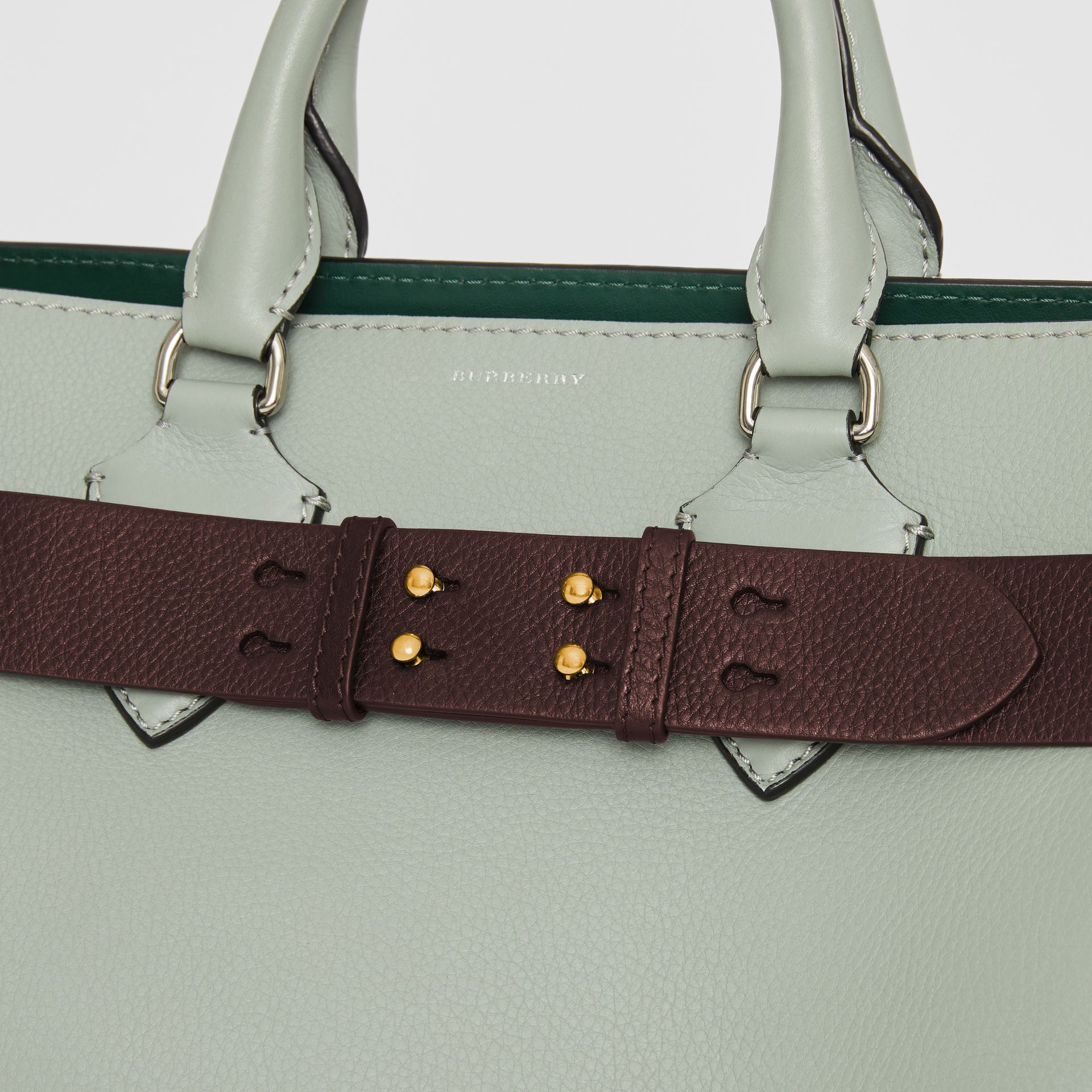 Ceinture en cuir grainé pour petit sac The Belt (Bordeaux Intense) - Femme | Burberry Canada - photo de la galerie 1