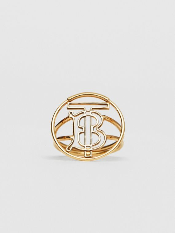 Gold-plated Monogram Motif Ring in Light