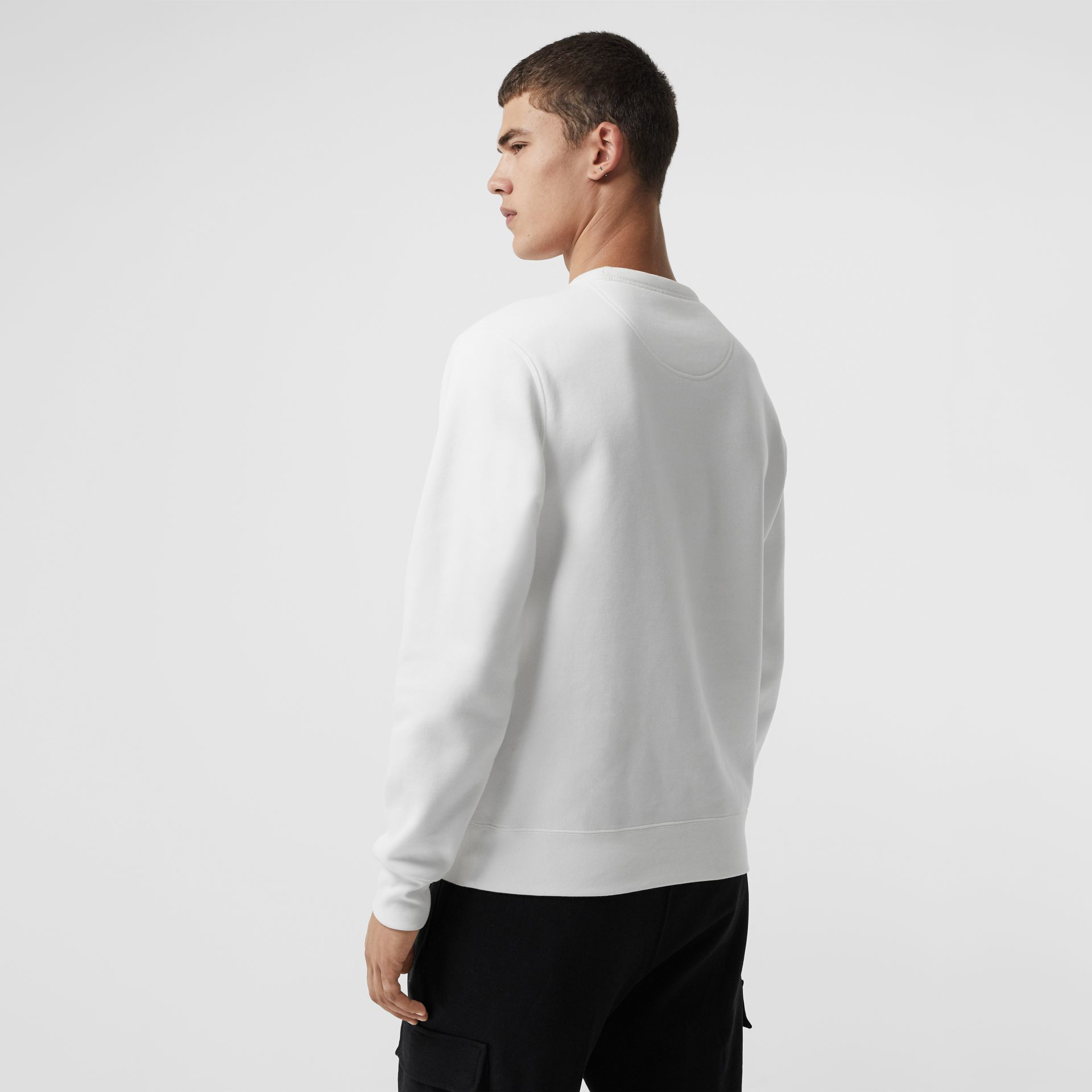 Sweat-shirt en jersey avec écusson brodé (Blanc) - Homme | Burberry - photo de la galerie 2