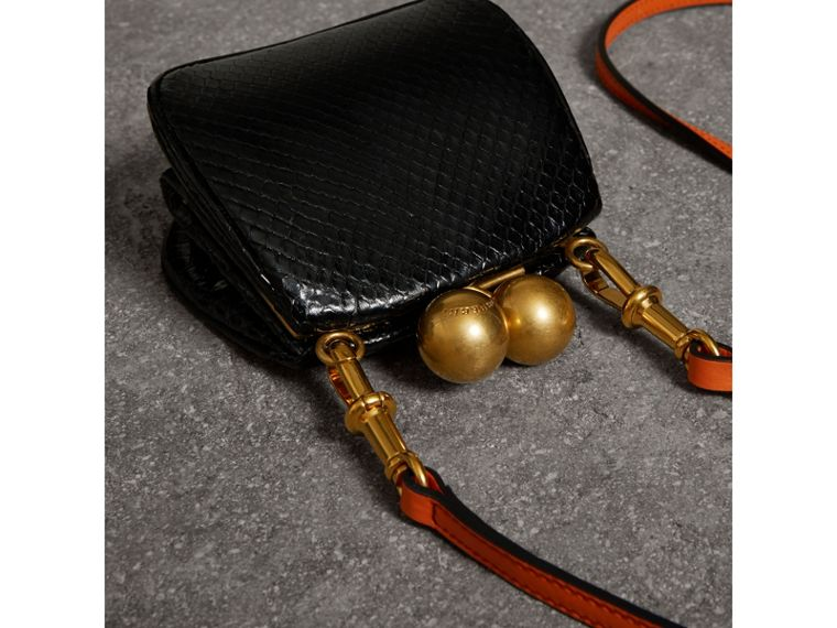Mini Two-tone Python Frame Bag in Black - Women | Burberry Singapore - cell image 4