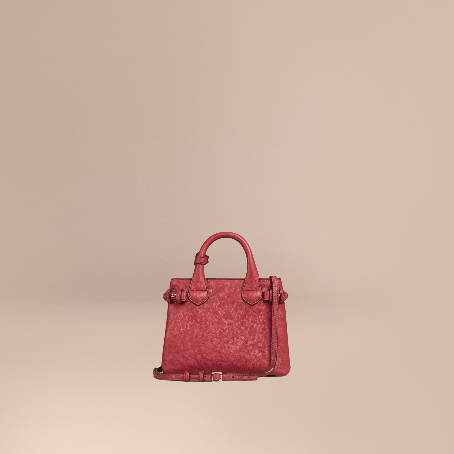The Baby Banner en cuir et coton House check (Rouge Feuille Morte) - Femme | Burberry - photo de la galerie 4