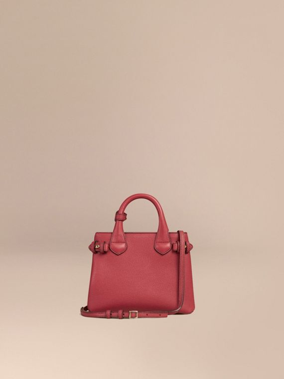 Borsa The Baby Banner in pelle con motivo House check (Rosso Bruno) - Donna | Burberry - cell image 3