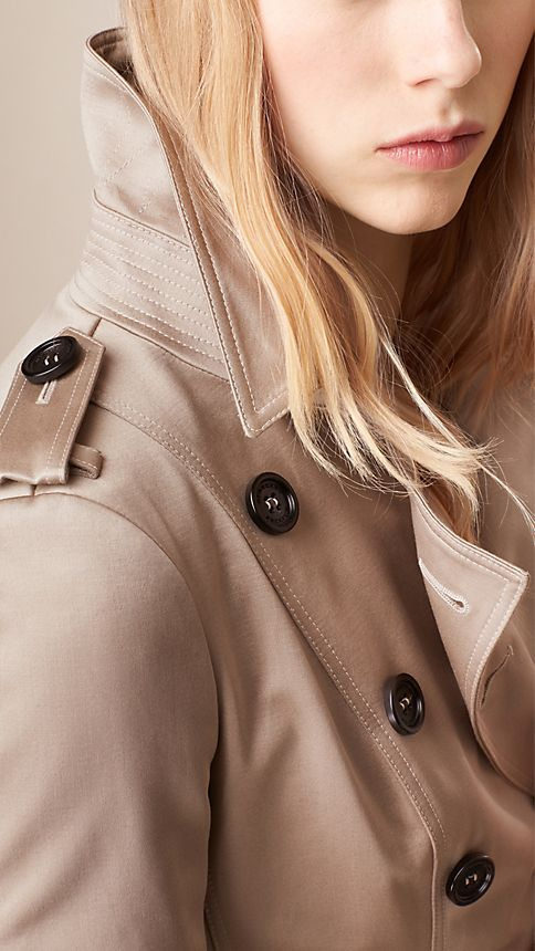 Trench Cotton Sateen Trench Coat  - Image 3
