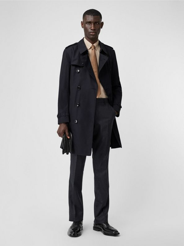 The Mid-length Kensington Trench Coat in Midnight